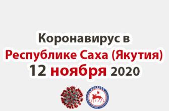 коронавирус в Республике Саха (Якутия) 12 ноября 2020