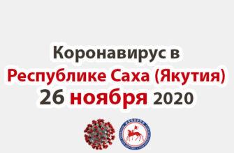 коронавирус в Республике Саха (Якутия) 26 ноября 2020