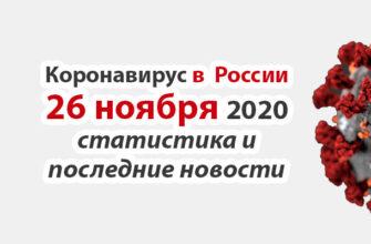 Коронавирус в России на 26 ноября 2020 года