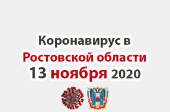 Коронавирус в Ростовской области на 13 ноября 2020 года