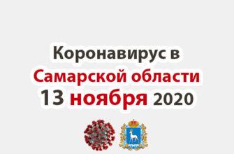 Коронавирус в Самарской области 13 ноября 2020