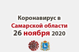 Коронавирус в Самарской области 26 ноября 2020