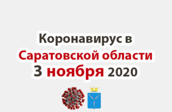 Коронавирус в Саратовской области 3 ноября 2020