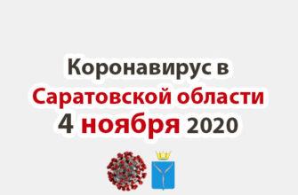 Коронавирус в Саратовской области 4 ноября 2020