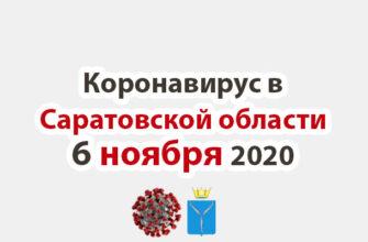 Коронавирус в Саратовской области 6 ноября 2020