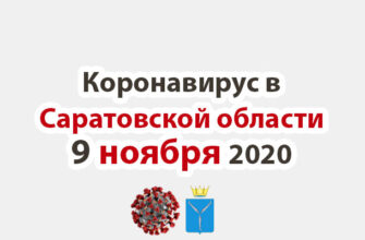 Коронавирус в Саратовской области 9 ноября 2020