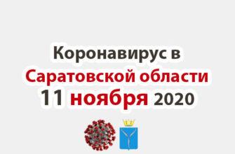 Коронавирус в Саратовской области 11 ноября 2020