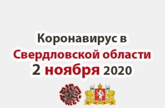 Коронавирус в Свердловской области на 2 ноября 2020 года