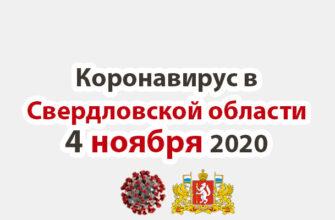 Коронавирус в Свердловской области на 4 ноября 2020 года