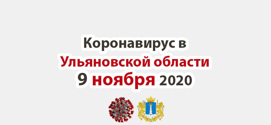 Коронавирус в Ульяновской области 9 ноября 2020