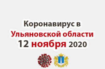Коронавирус в Ульяновской области 12 ноября 2020