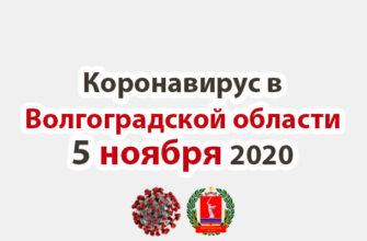 Коронавирус в Волгоградской области 6 ноября 2020