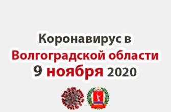 Коронавирус в Волгоградской области 9 ноября 2020