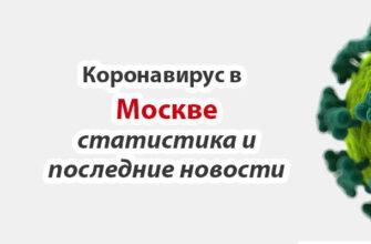 Коронавирус в Москве статистика на сегодня